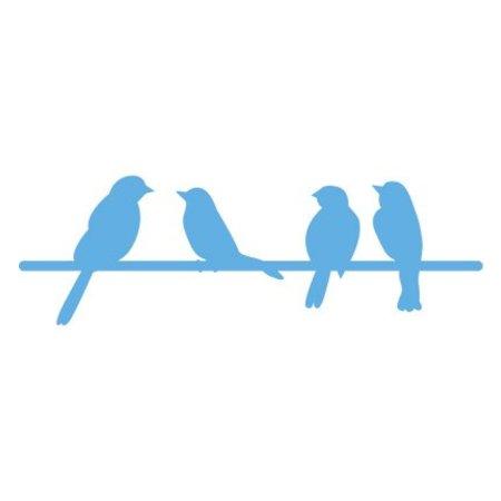 Marianne Design Skæring og prægning stencils, fugle på en gren