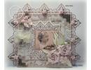 Joy!Crafts und JM Creation Corte y estampado en relieve plantillas, cuadrado + 2 esquina