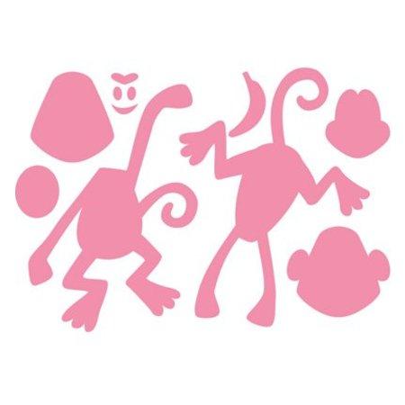 Marianne Design Stansning og prægning skabelon: Eline s abe