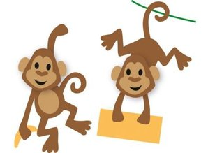Marianne Design Punching and embossing template: Eline's Monkey