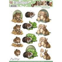 A4 Stanzbogen, Thema: Tiere