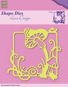 Nellie snellen Cutting and embossing stencils, nature and fungus in the picture frame