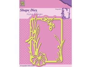 Nellie snellen Cutting and embossing stencils, nature and level of the picture frame