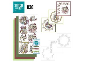 Komplett Sets / Kits Complet Bastelset for at designe 3 kort!