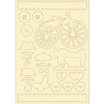 Zacht karton, 22er Set vintage
