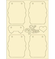 Pronty Soft cardboard, 7 Set vintage