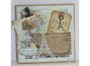 Joy!Crafts und JM Creation Stansning og prægning skabeloner: Eiffel Tower
