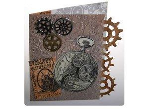 Docrafts / Papermania / Urban sello de goma, tema: Cronología