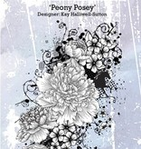 IndigoBlu Gummi stempel, Peony Posey