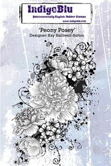 IndigoBlu Rubber stamp, Peony Posey