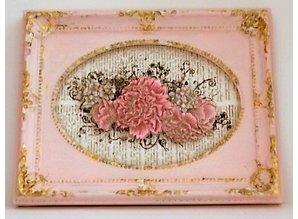 Objekten zum Dekorieren / objects for decorating Flot trækasse i bogform, 21,7 x 18 cm.