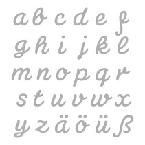 Stansning og prægning skabelon: Tyske breve AZ