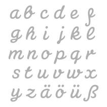 Stanz- und Prägeschablone: deutsche kleinbuchstaben A-Z