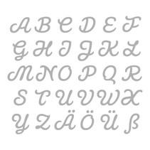 Stanz- und Prägeschablone: deutsche Großbuchstaben A-Z