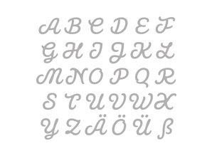 Spellbinders und Rayher Stansning og prægning skabelon: Tysk store bogstaver AZ