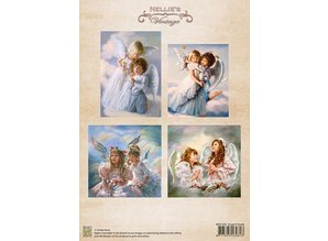 Nellie snellen A4, Bilderbogen Vintage, Angel Friends