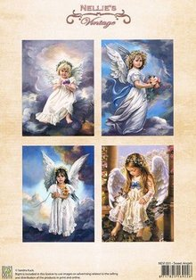 Nellie snellen A4, Bilderbogen Vintage, angeli dolci