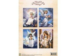 Nellie snellen A4, Bilderbogen Vintage, Søde engle