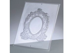 GIESSFORM / MOLDS ACCESOIRES Relief Shape: Oval frame