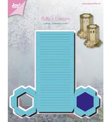Joy!Crafts und JM Creation Punching and embossing templates: Lantern