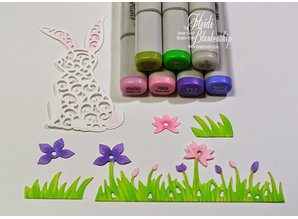 Spellbinders und Rayher Stamping and embossing stencil, Rabbit