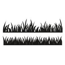 Stempling og prægning stencil, græs