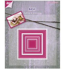Joy!Crafts und JM Creation Punching and embossing template, Basic Mery Viereck