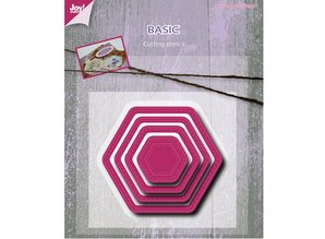 Joy!Crafts und JM Creation Punching and embossing template, Basic Mery hexagonal
