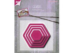 Joy!Crafts und JM Creation Stansning og prægning skabelon, Basic Mery sekskantede