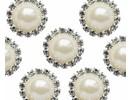 Embellishments / Verzierungen Vintage encantos Círculo Perla y Diamante