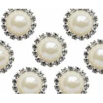 Vintage encantos Círculo Perla y Diamante