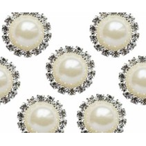 Vintage Pearl & Diamante Circle Charms