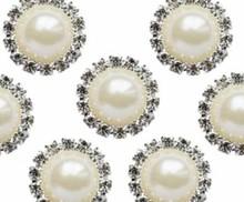 Embellishments / Verzierungen Vintage Charms Pearl & Diamante Circle