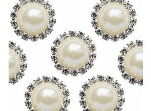 Embellishments / Verzierungen Vintage Pearl & Diamante Circle Charms