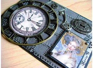 Prima Marketing und Petaloo Vintage mechanicals - trinket vintage clock face shapes
