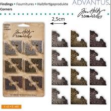 Embellishments / Verzierungen angolo di metallo, 12 pezzi di antiquariato,
