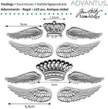 Embellishments / Verzierungen ali di metallo Antichi + corona