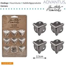 Embellishments / Verzierungen 8 Antike Box Eck Füßen + Schrauben