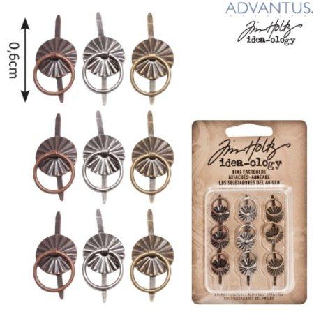 Embellishments / Verzierungen 9 Mini Metalle Griffe, Antik