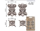 Embellishments / Verzierungen 4 Metalle Scharniere, Antik