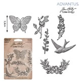 Embellishments / Verzierungen 6 antike metalle Verzierungen