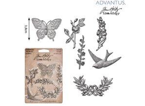 Embellishments / Verzierungen 6 metalli antichi ornamenti