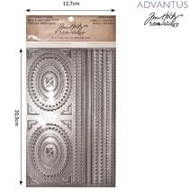 Advantus Tim Holtz flittige klistermærker dekorativ ramme