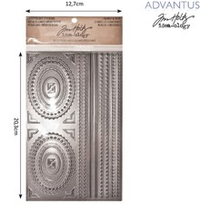 Embellishments / Verzierungen Advantus Tim Holtz industrious stickers decorative frame