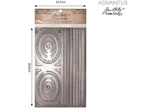 Embellishments / Verzierungen Advantus Tim Holtz adesivi operosi cornice decorativa