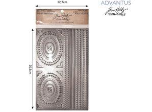 Embellishments / Verzierungen Advantus Tim Holtz flittige klistermærker dekorativ ramme