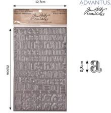 Embellishments / Verzierungen Advantus Tim Holtz industrious sticker Buchstaben