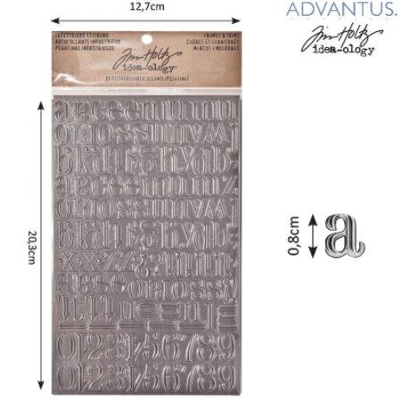 Embellishments / Verzierungen Advantus Tim Holtz industrious sticker letters
