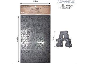 Embellishments / Verzierungen Advantus Tim Holtz letras pegatina laboriosa