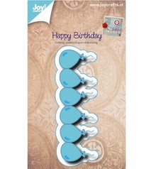 Joy!Crafts und JM Creation Stansning og prægning stencil grænse med balloner